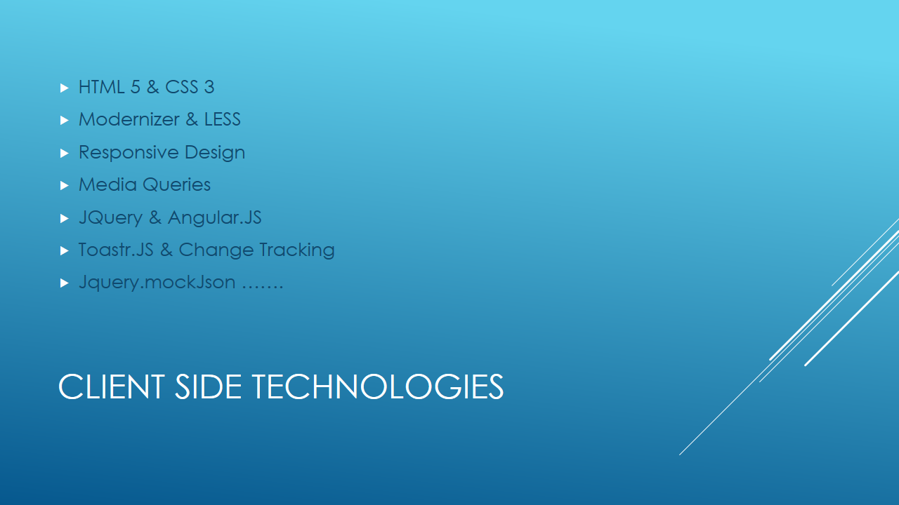 Client Side Technologies