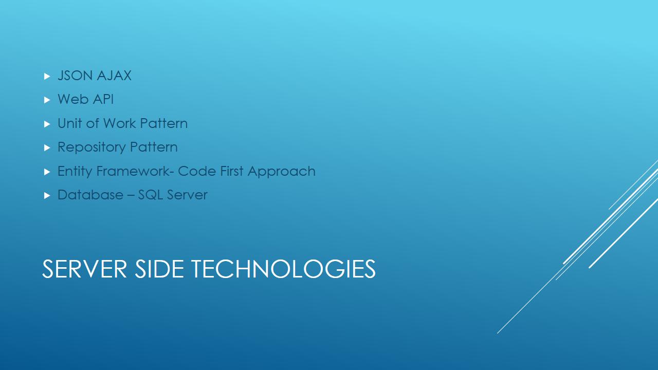 Server Side Technologies